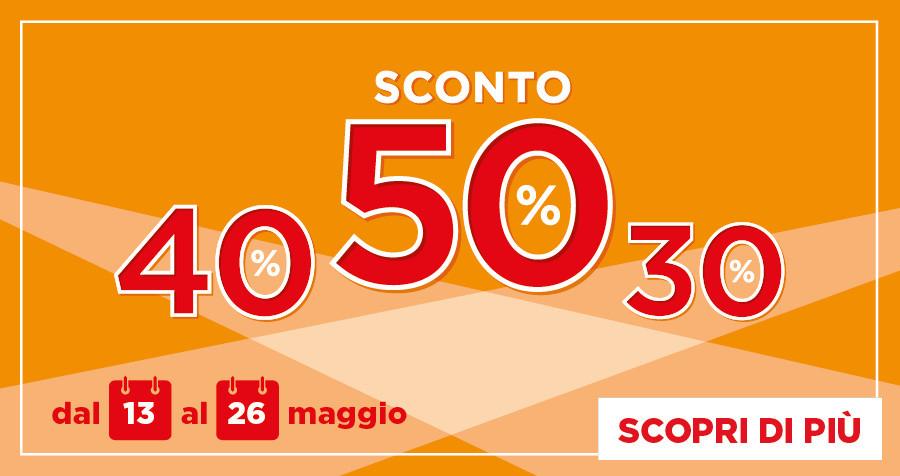 DA BENNET: SCONTO 50% 40% 30%