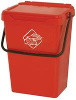 Secchio Rosso Per Raccolta Differenziata Con Coperchio 39l Art Plast