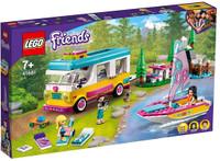 Playset Camper Van Nel Bosco Con Barca A Vela Lego Friends 7+