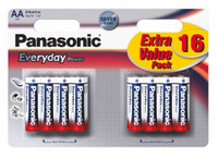 16 Pile Stilo Alkaline Panasonic Everyday