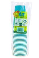Bicchieri Usa & getta In Cartoncino Colorato Turchese Flo Cl . 20