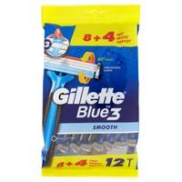 Rasoio Da Uomo Blue3 Usa E Getta Gillette, 8+4 Pezzi