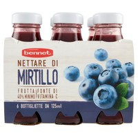 Nettare Bennet Mirtillo 6 Da Ml . 125 Cad .