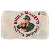 Birra Moretti 6 Lattine Da Cl . 33
