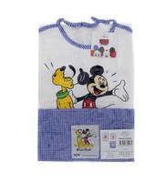 Set Asilo Bambino Mickey Mouse - Bavaglia , Salvietta , Sacca In Tela