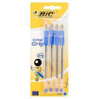 4 Penne Cristal Grip Blu