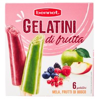 6 Gelatini Di Frutta Bennet Gusti Vari