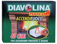 Accendifuoco Diavolina 40 Cubetti