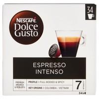 Capsule Caffe ' Espresso Intenso Nescafe ' Dolce Gusto , Conf . da 30 + 4