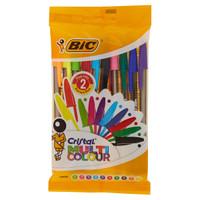10 Penne A Sfera Cristal Multicolor