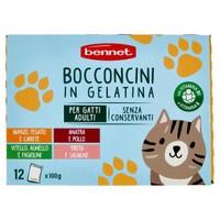 Alimento Umido Per Gatti In Gelatina Mondesir Conf . Da 12 Buste