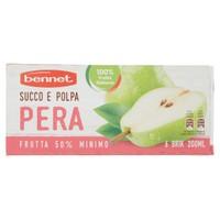 Succo E Polpa Di Pera Bennet 6 Da Ml . 200 Cad .