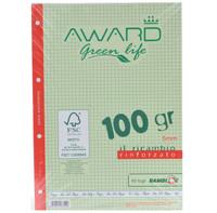 Ricambi A 45 mm Award Green Life Carta Fsc , 50 Fogli , 100 gr . Rinforzato