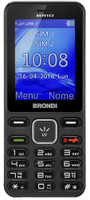 Telefono Cellulare Brio Brondi Nero / titanio