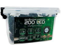 Catena Luminosa 200 Luci Led In Plastic Box