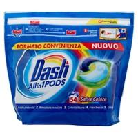 Detersivo Lavatrice Allin1 Pods Capsule Colore Dash, 54 Lavaggi