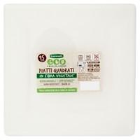 Piatti Quadrati In Polpa Di Cellulosa 25 x 25 cm Bennet Eco