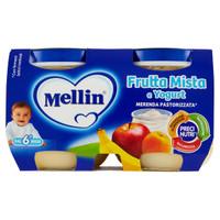 Frutta Mista E Yogurt Merenda Pastorizzata Mellin 2 Da Gr . 120