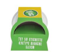 50 Etichette Bianche Cm.5x7