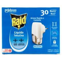 Elettroemanatore Antizanzare Liquido Raid Base + ricarica 30 Notti Conf .