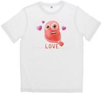 T - shirt Bambino / a Mezza Manica Girocollo Con Stampa 9 / 10 anni Bianco