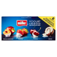 Crema Di Yogurt Muller Frutta A Pezzi Pesca Fragola More E Lamponi 8 D