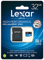 Memoria Micro Sd High Speed 633 x 32 gb Lexar