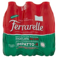 Acqua Effervescente Naturale Ferrarelle 6 Da L . 0 , 5