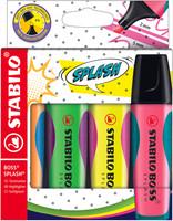 Astuccio In Plastica Stabilo Boss Splash 4 Colori Assortiti