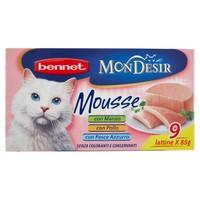Alimento Umido Per Gatti Mousse Mondesir Bennet 9 Lattine Da Gr . 85