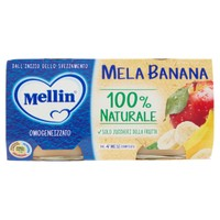 Omogeneizzati Alla Mela E Banana Mellin 2 Da Gr . 100