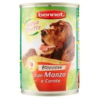 Alimento Umido Bocconcini Per Cane Manzo E Verdure Bennet