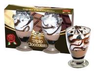 Gelato Bicchiere Vetro X 2 Triplo Cioccolato Mancuso