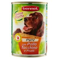 Alimento Umido Per Per Cane Pate ' Pollo Tacchino Bennet