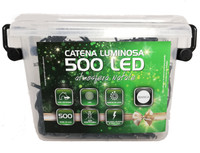 Catena Luminosa 500 Luci Led In Plastic Box