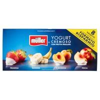 Crema Di Yogurt Muller Frutta Frullata Fragola Albicocca E Banana