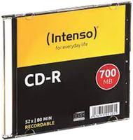 Confezione Singola Cd-R700 Mb/80min. Speed 52x Intenso