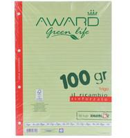 Ricambi A 41 r Award Green Life Carta Fsc , 50 Fogli , 100 gr ., Rinforzato