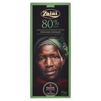 Tavoletta Cioccolato Fondente 80 % Zaini