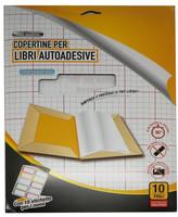 10 Copertine Adesive Trasparenti E 10 Etichette