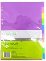10 Divisori Colorati In Plastica