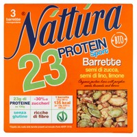 Barrette Semi Di Zucca , semi Di Lino , limone Biologiche Protein Sport Na