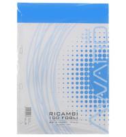 Ricambi A 4 Rigature C 100 Fogli Perforati , 100 Gr .