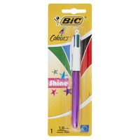 Penna A 4 Colori Con Fusto Metallizzato Colori Classici ( blu , Nero ,
