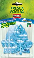 Profumatore Auto Anti Tabacco Fresca Foglia Arexons Confezione 3 x 2