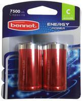 2 Pile Alcaline Mezza Torcia Energy Power Bennet