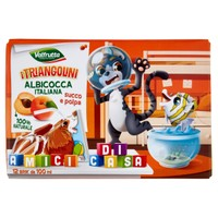 Succo Di Frutta All ' albicocca Pesca I Triangolini Valfrutta 12 Da Ml . 1