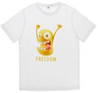 T - shirt Bambino / a Mezza Manica Girocollo Con Stampa 5 / 6 anni Bianco