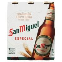 Birra San Miguel 3 Bottiglie Da Cl . 33