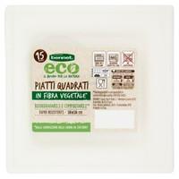 Piatti Quadrati In Polpa Di Cellulosa Bennet Eco Cm . 16 x 16